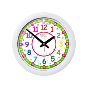 EasyRead Time Teacher Rainbow 24 Hour Wall Clock