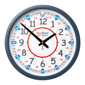 EasyRead Time Teacher 24 Hour Classroom Wall Clock